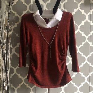 Studio Works Copper Sweater with color & Necklace